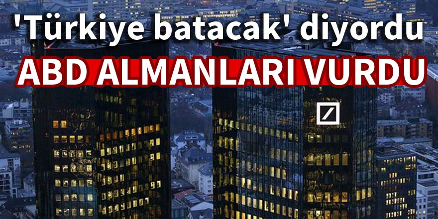 Deutche Bank'a ABD darbesi