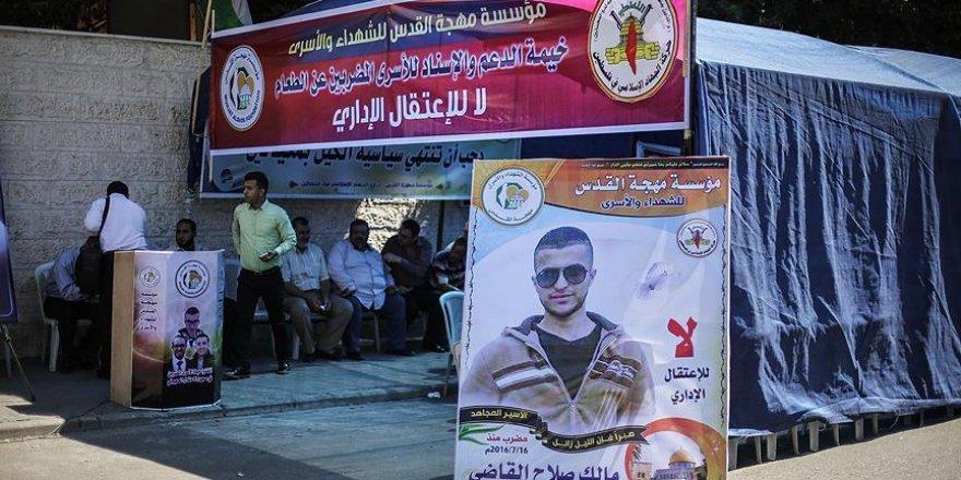 Gazze'de 'idari tutukluluk' uygulaması protesto edildi