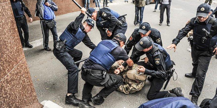 Duma seçimleri Ukrayna'da protesto edildi