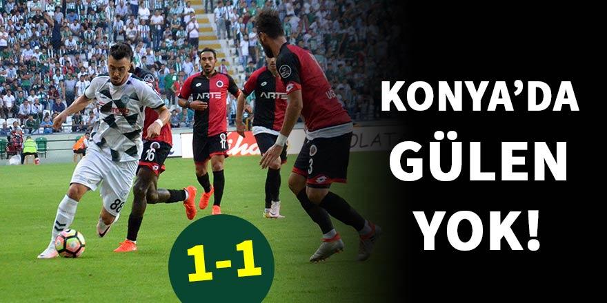 Konya'daki maçtan beraberlik çıktı