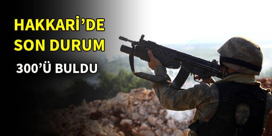 Dağlıca'da 7 PKK'lı terörist etkisiz hale getirildi