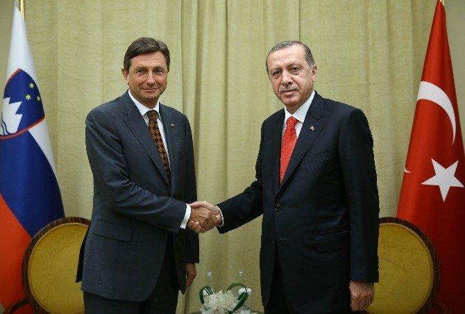 Cumhurbaşkanı Erdoğan, Slovenyalı mevkidaşı Pahor ile görüştü