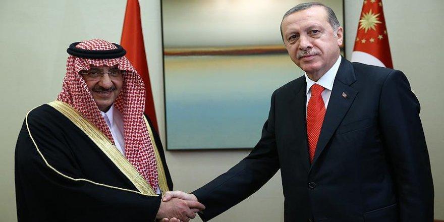 Erdoğan Suudi Arabistan Veliaht Prensi Abdulaziz Al-Suud ile görüştü