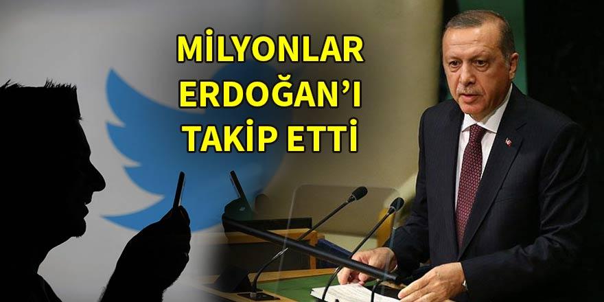 Milyonlar sosyal medyada Erdoğan'ı takip etti