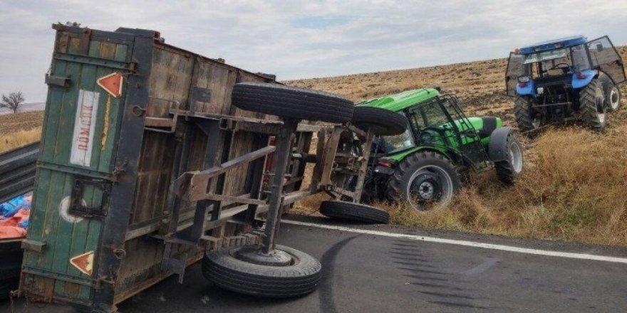 Tekirdağ'da traktör römorku devrildi: 1 yaralı