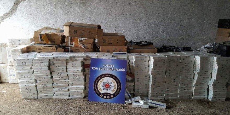 Yozgat Emniyeti 60 bin kaçak sigara ele geçirdi