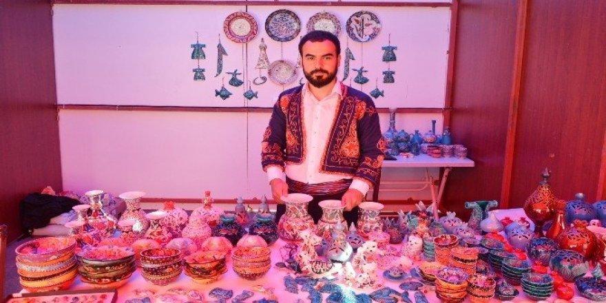 Aksaray'da Türk El Sanatları Sergisi açıldı