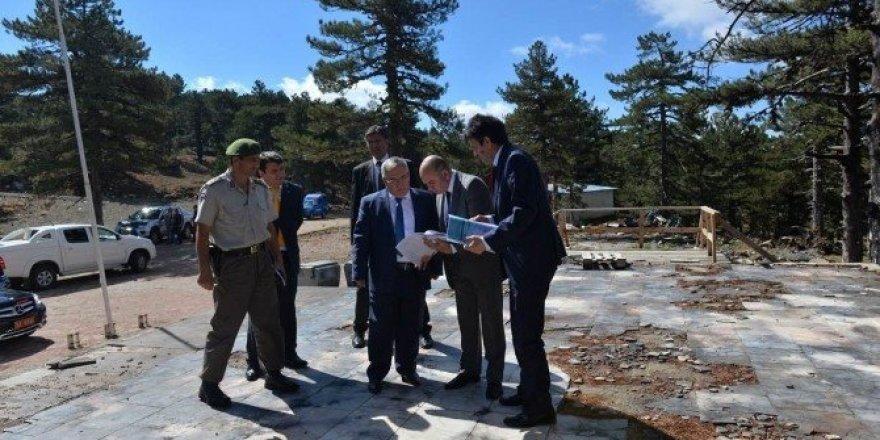 Vali Nayir, Muratdağı Termal Kayak Merkezi'ni inceledi