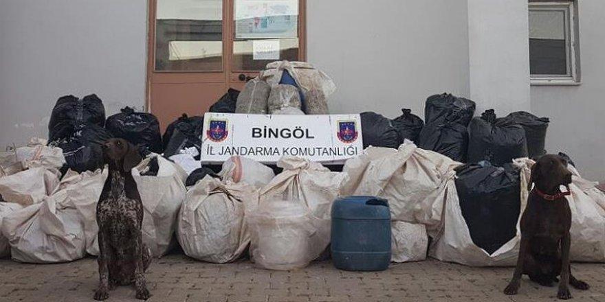 Bingöl'de 714 kilo 890 gram esrar ele geçirildi