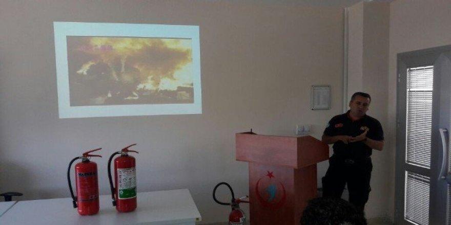 İtfaiyeden kurumlara yangın eğitimi
