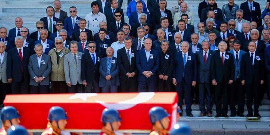 Eski Muğla Milletvekili Gürol Ergin için TBMM'de tören düzenlendi