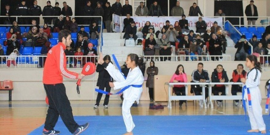 Karaman'da üçüncü dönem tekvando kuşak sınavı yapıldı