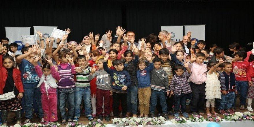 Canik'ten yabancı çocuklara Türkçe belgesi