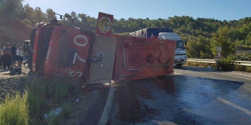 Gazipaşa'da arazöz kazası: 1 yaralı