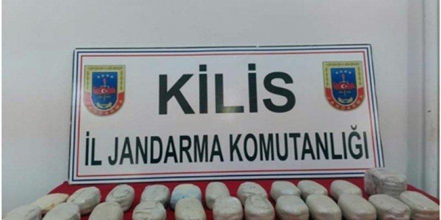 Kilis'te 13 kilo toz esrar ele geçirildi