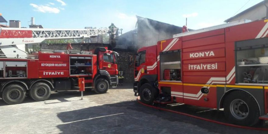Beyşehir'de yangın