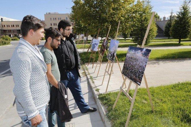 Ömer Halisdemir Üniversitesinde 15 Temmuz Milli İradenin Yükselişi Sergisi