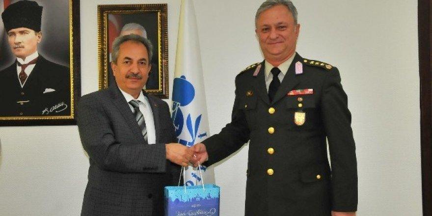 Albay Canol'dan Başkan Akkaya'ya veda ziyareti