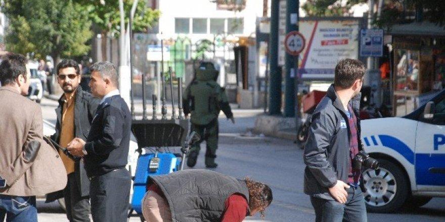 Tokat'ta fünye ile patlatılan çanta boş çıktı