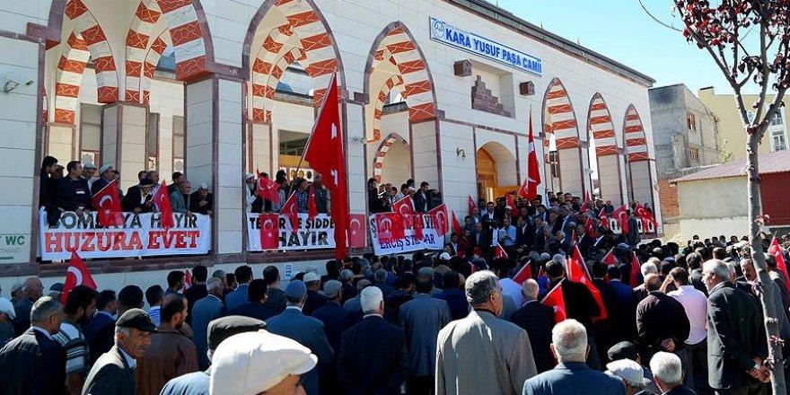 Erciş'te terör saldırıları lanetlendi