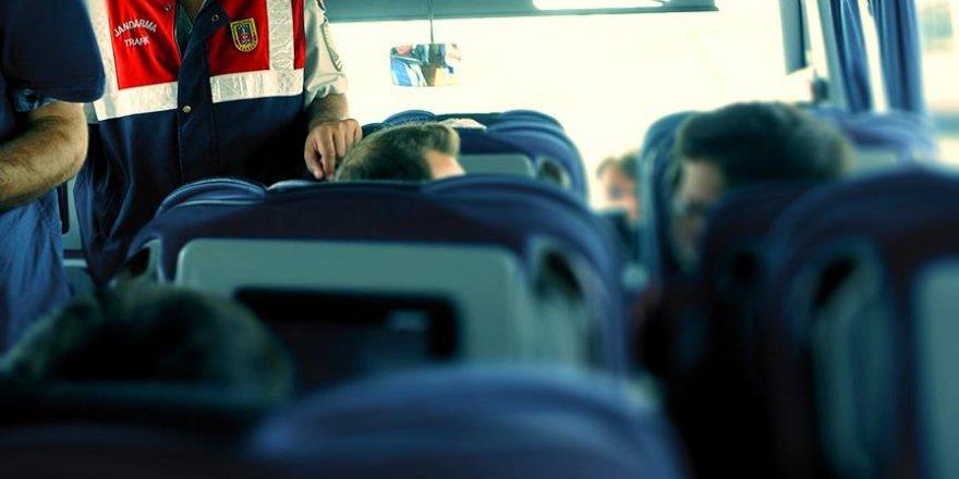 Terörist kadın yolcu otobüsünde yakalandı