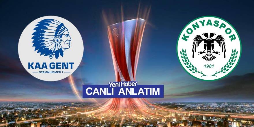 Gent-Konyaspor canlı anlatım
