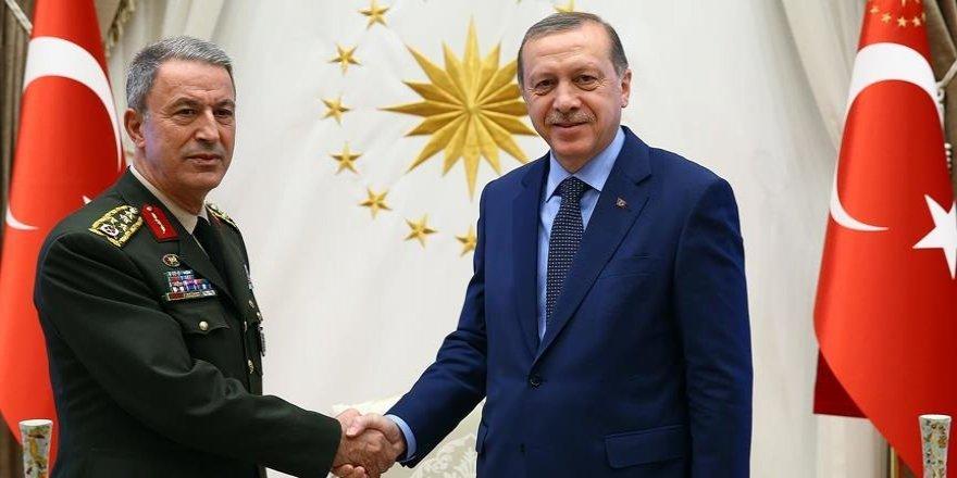 Erdoğan, Genelkurmay Başkanı Akar'ı kabul etti