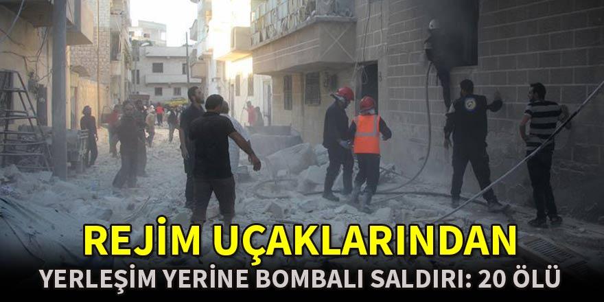 Rejim uçaklarından yerleşim yerine vakum bombalı saldırı: 20 ölü
