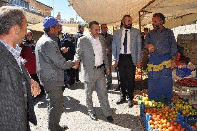 Başkan Tutal, pazarcı esnafını ziyaret etti