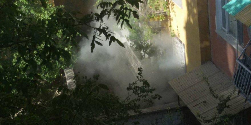 Konya'da Suriyelilerin kaldığı evde yangın
