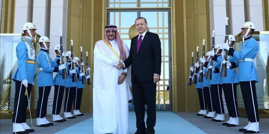 Erdoğan, Suudi Arabistan Veliaht Prensi Nayif'i kabul etti