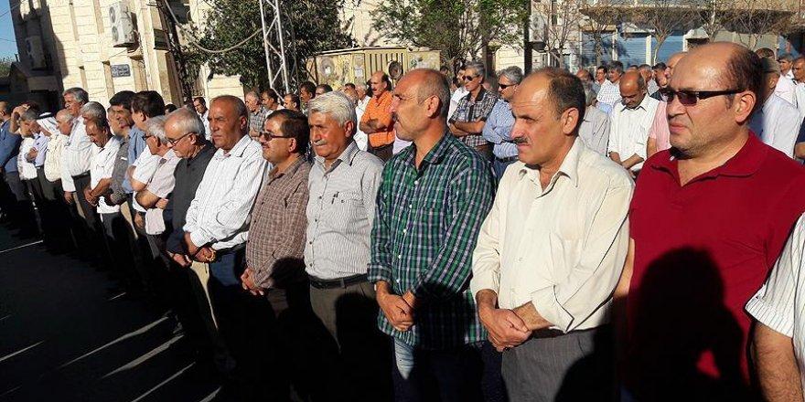 Kamışlı'da PYD karşıtı gösteri