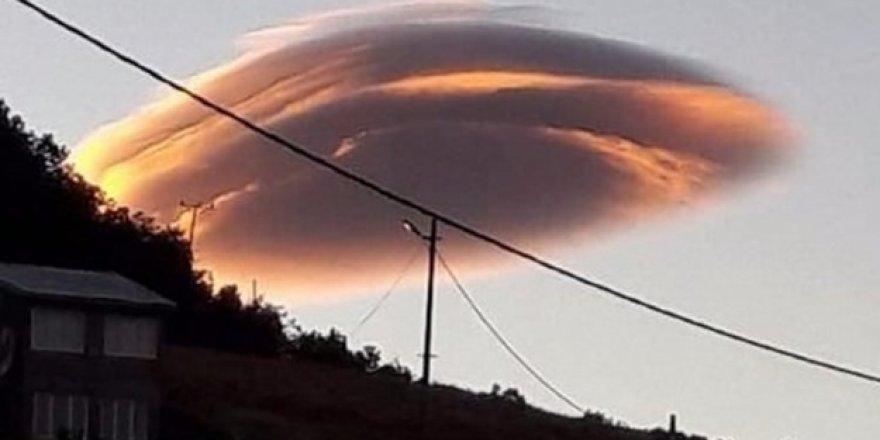 Tunceli'de görenleri şaşırtan bulut