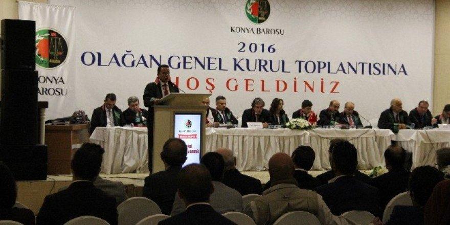 Konya Barosu olağan genel kurul toplantısı yapıldı