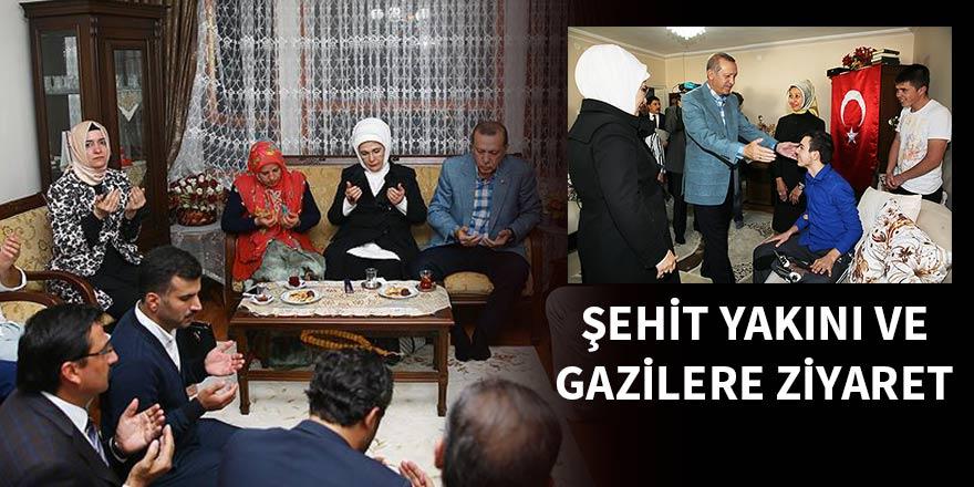 Cumhurbaşkanı Erdoğan'dan şehit yakını ve gazilere ziyaret