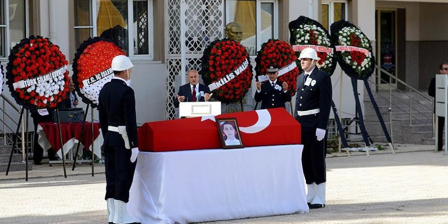 Şehit polis Mimiroğlu için tören düzenlendi