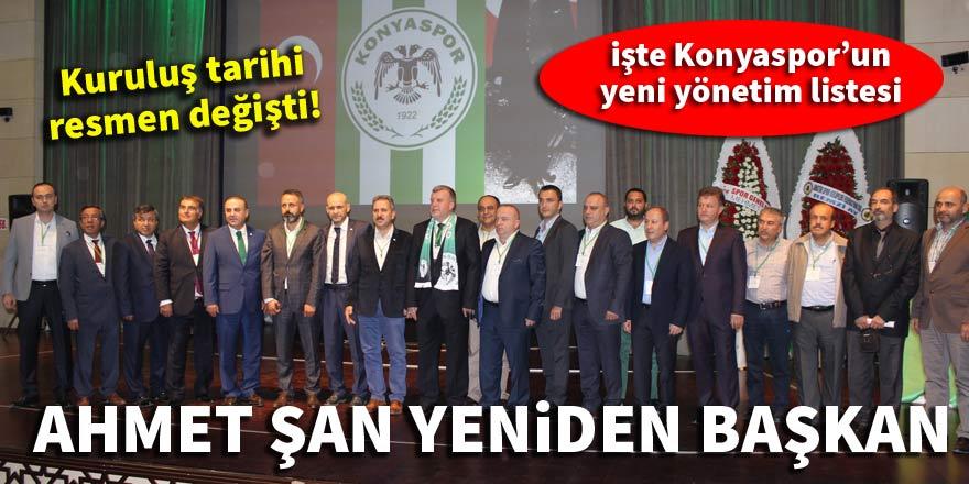Konyaspor'da Ahmet Şan yeniden başkan oldu