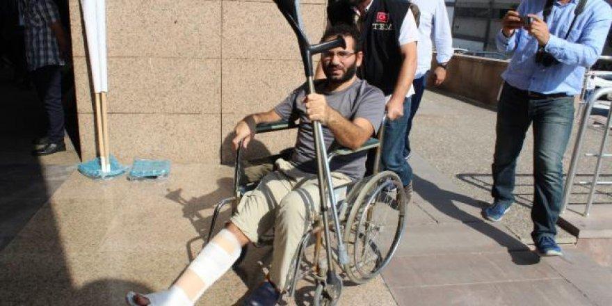 Kaçarken ayağı kırılan 'savcı' tutuklandı