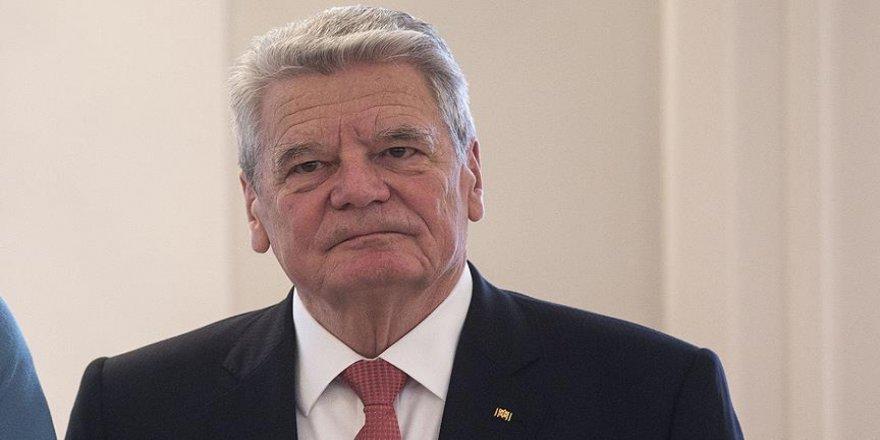 'Alman Cumhurbaşkanı olaydan duyduğu üzüntüyü belirterek özür diledi'