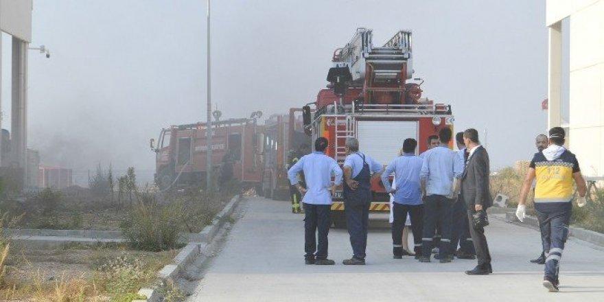 Turgutlu OSB'de korkutan yangın