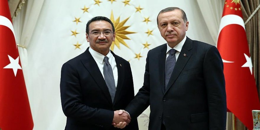 Erdoğan, Malezya Savunma Bakanı Hüseyin'i kabul etti