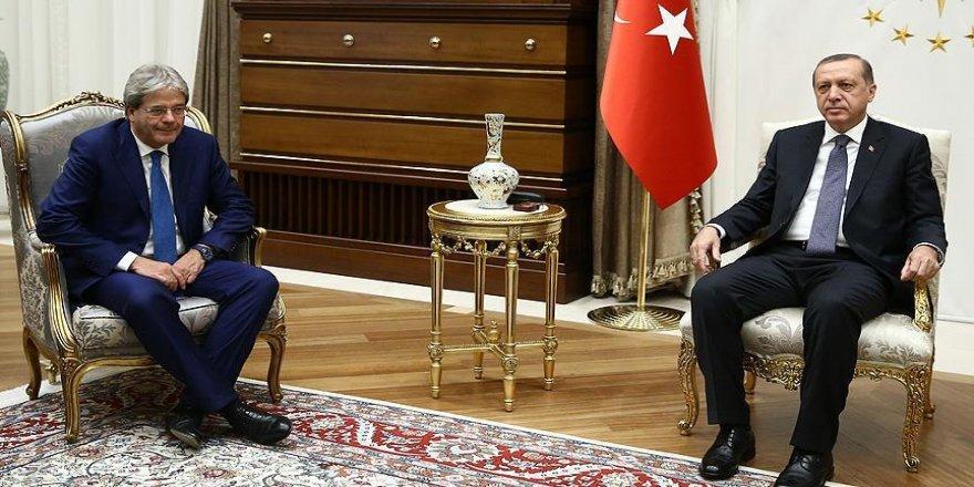 Erdoğan, İtalya Dışişleri Bakanını kabul etti