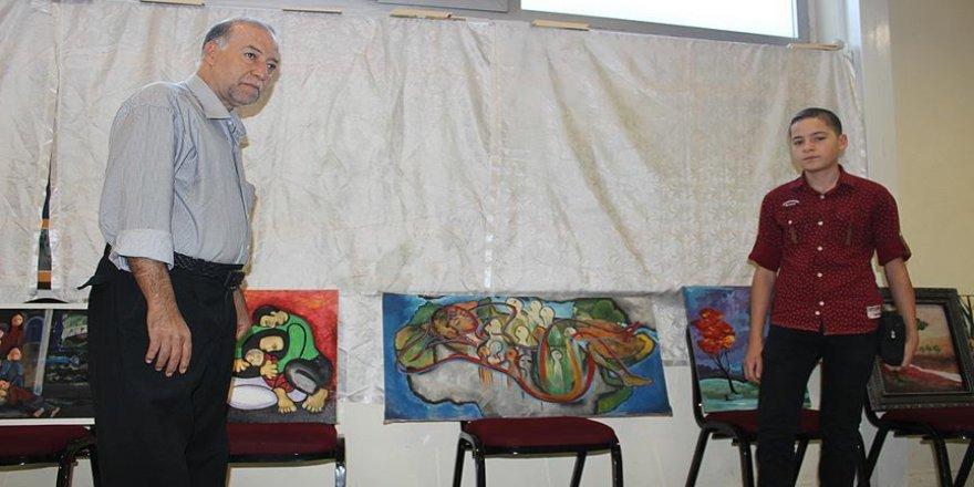 Suriyeli ressamlar acılarını tuvale yansıttı