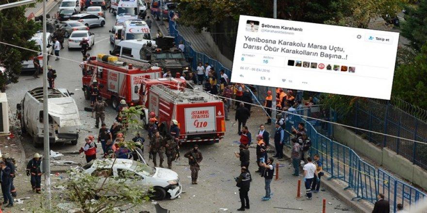 Yenibosna'daki saldırı sonrası skandal paylaşım