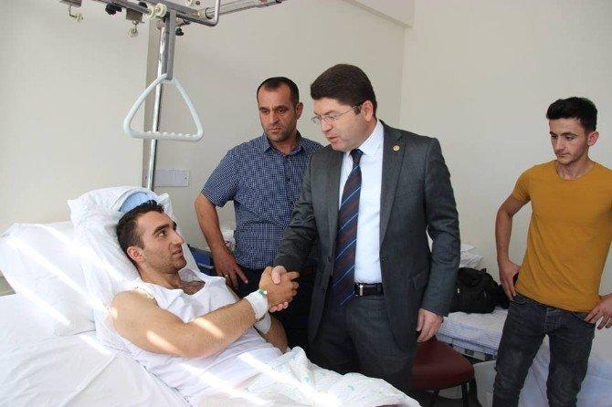 Milletvekili Tunç, yaralanan askerleri hastanede ziyaret etti