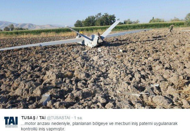 Motoru arızalanan İHA, Elazığ'da zorunlu iniş yaptı