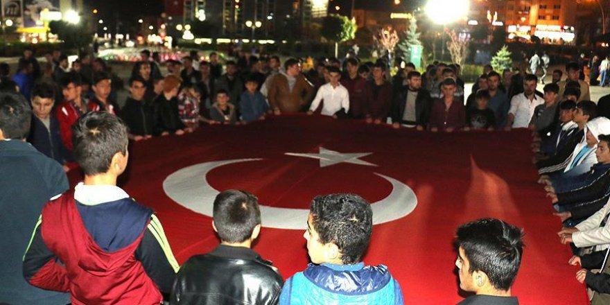 Erzurum'da 'teröre lanet yürüyüşü' gerçekleştirildi