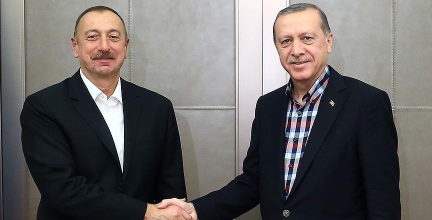 Erdoğan ile Azerbaycan Cumhurbaşkanı Aliyev bir araya geldi