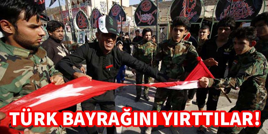 Büyük saygısızlık! Türk bayrağını yırttılar