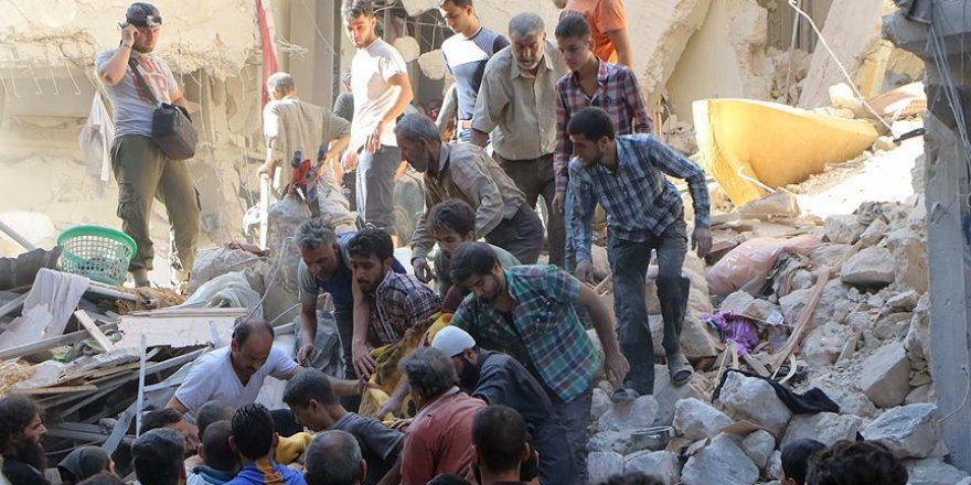 Halep'te yerleşim alanına saldırı: 43 ölü, 80 yaralı